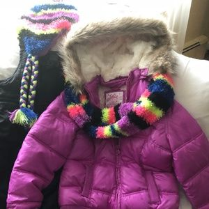 Justice Girls Puffer Winter Jacket